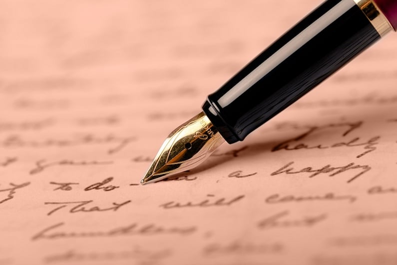 Lettera scritta a mano