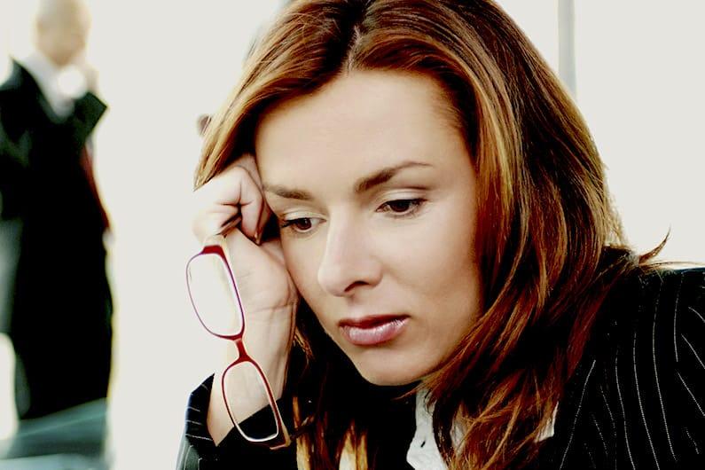 donna stressata